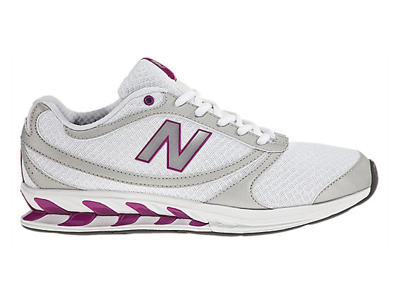 New Balance 800, White with Silver & Pink