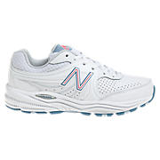 New Balance 840, White with Pink & Light Blue