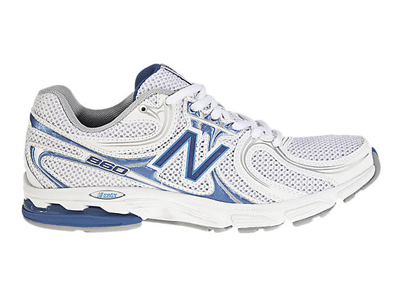 New Balance 860, White with Blue & Grey