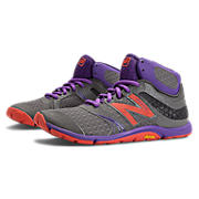Minimus 20v3 Mid-Cut Cross-Trainer, Grey with Purple & Coral