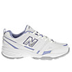 New Balance 409, White with Lilac & Silver