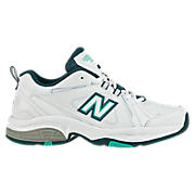 New Balance 608v3, White with Blue & Teal