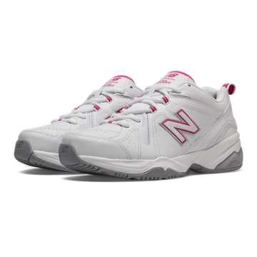 New Balance New Balance 608v4, White with Exuberant Pink