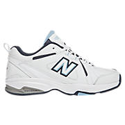 New Balance 624, White with Navy & Light Blue