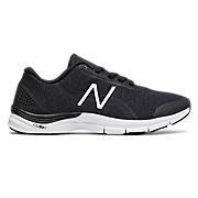 New Balance 711v3 Heathered Trainer, Black with White