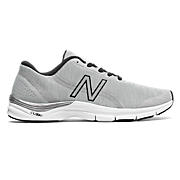 New Balance 711v3 Heathered Trainer, Steel with Black