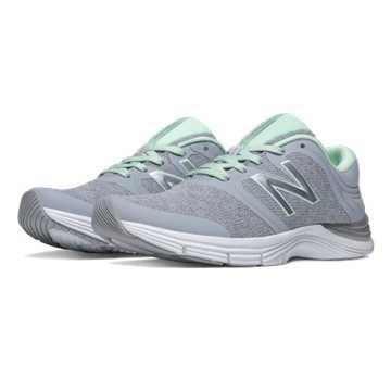 New Balance New Balance 711v2 Heathered Trainer, Silver Mink with Seafoam