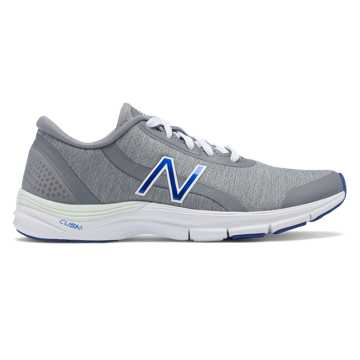 New Balance 711v3 Trainer, Steel with Blue