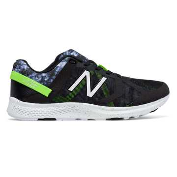 New Balance Vazee Transform Graphic Trainer, Black with Lime Glo & Grey