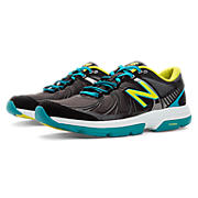 New Balance 813v2, Black with Teal & Neon Yellow