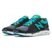 New Balance 813v3, Dark Grey with Blue Atoll & Green Apple