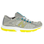 New Balance 813, Grey with Teal & Lime Green
