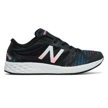 New Balance Fresh Foam 822v3 Graphic Trainer, Black with Typhoon & Alpha Pink
