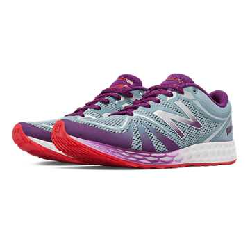 New Balance Fresh Foam 822v2 Trainer, Grey with Imperial Purple