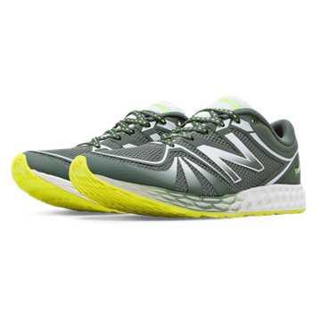 New Balance Fresh Foam 822v2 Trainer, Slate Green with Hi-Lite