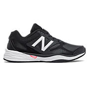 New Balance 824 Trainer, Black with White