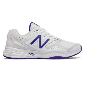 New Balance New Balance 824 Trainer, White with Deep Violet
