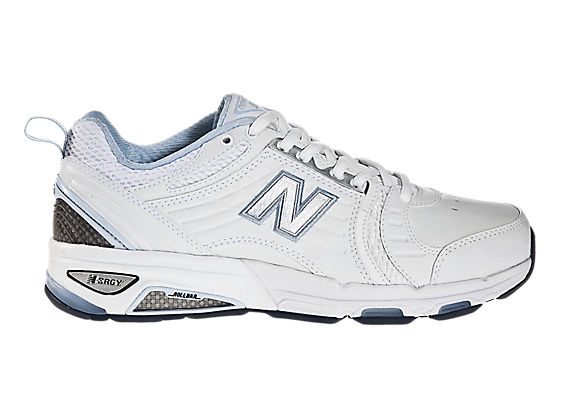 New Balance 856, White with Light Blue & Grey