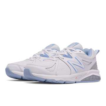 New Balance New Balance 857v2, White with Light Blue