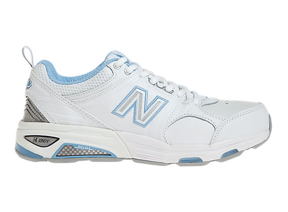 New Balance 857, White with Blue