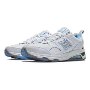 New Balance New Balance 857, White with Light Blue