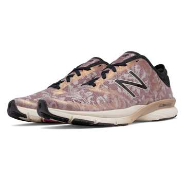 New Balance Lace 88v2 Trainer, Angora with Black & Rose Gold