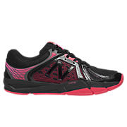 New Balance 997v2, Black with Diva Pink