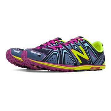 New Balance XC700v3 Spikeless, Grey with Lime & Purple Cactus Flower