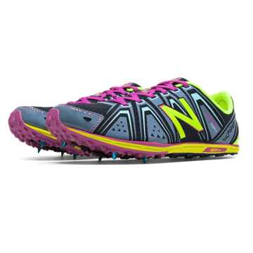 New Balance XC700v3 Spike, Grey with Lime Green & Purple Cactus Flower