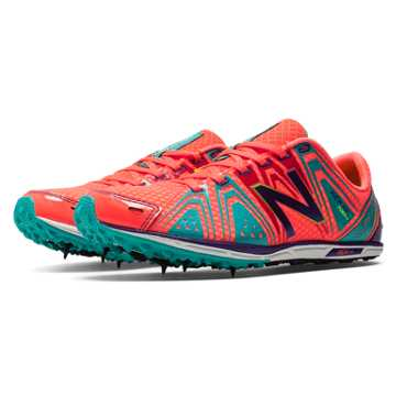 New Balance XC700v3 Spike, Coral Pink with Teal & Purple