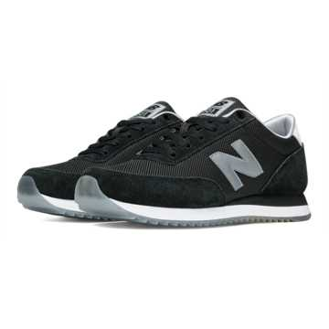 New Balance 501 Ripple Sole, Black with Grey