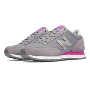 New Balance 501 Ripple Sole, Grey with Azalea
