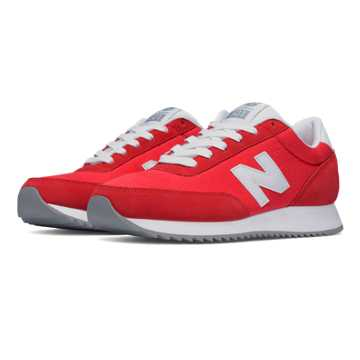New Balance 501 90s Traditional Ripple Sole, Red with White
