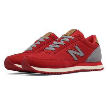 New Balance 501 Ripple Sole, Red with Grey