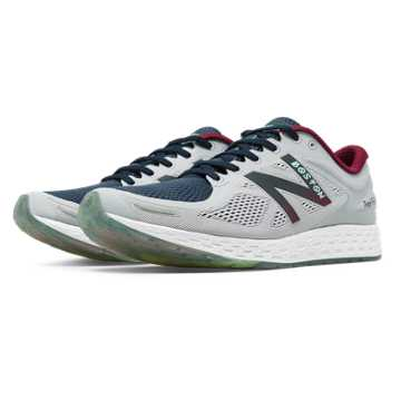 New Balance Fresh Foam Zante v2 Boston, Silver with Navy