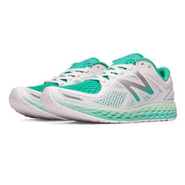 New Balance Fresh Foam Zante v2 Breathe, White with Seafoam & Reef