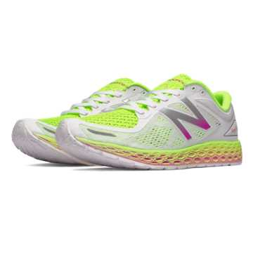 New Balance Fresh Foam Zante v2 Breathe, White with Hi-Lite