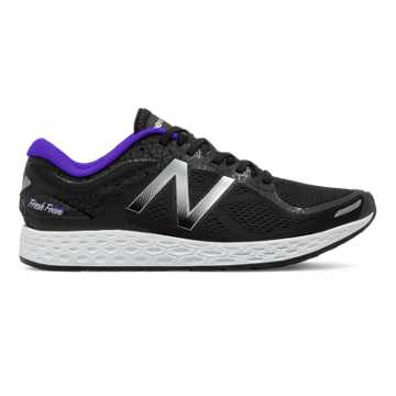 New Balance Zante v2 Queens, Black with Metallic Silver & Deep Violet