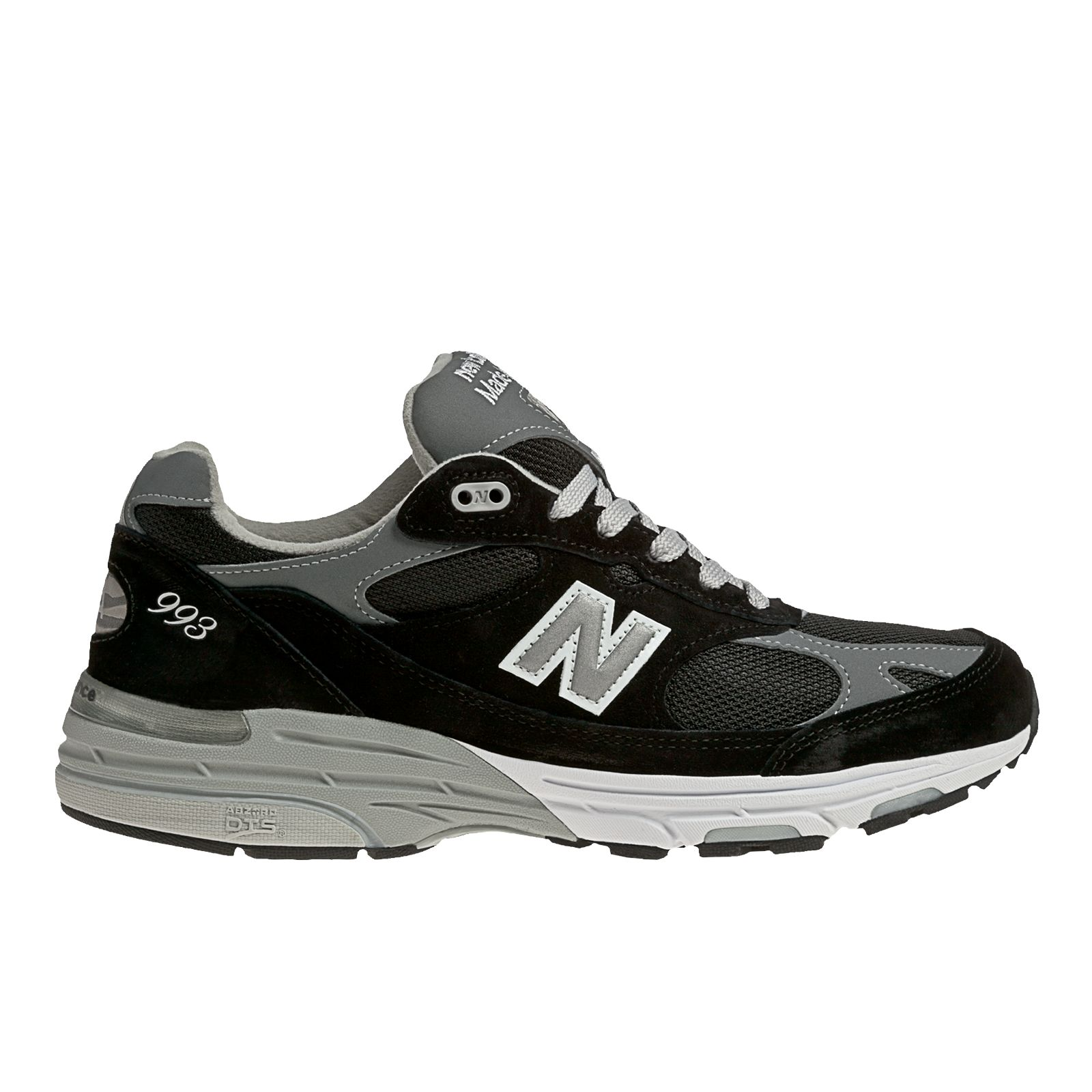 New Balance Mens Classics 993 Stability Running Shoes Black