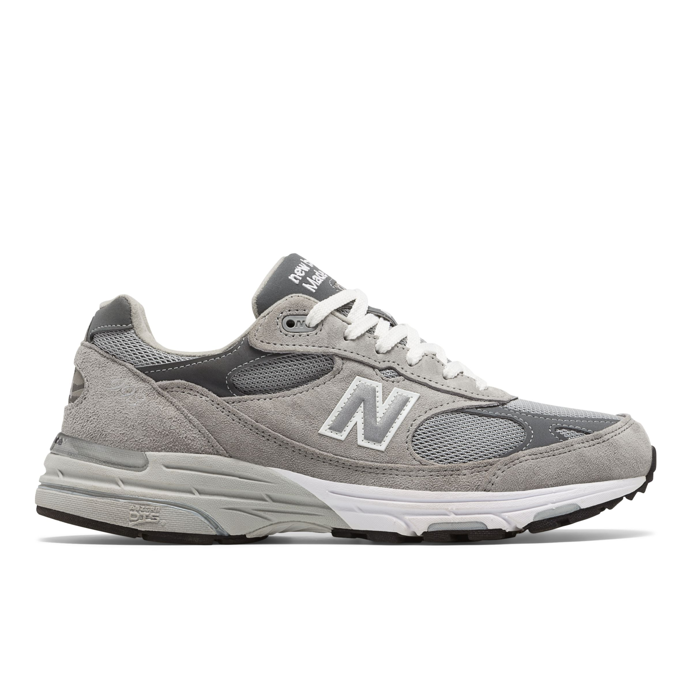 New Balance Mens Classics 993 Stability Running Shoes Grey