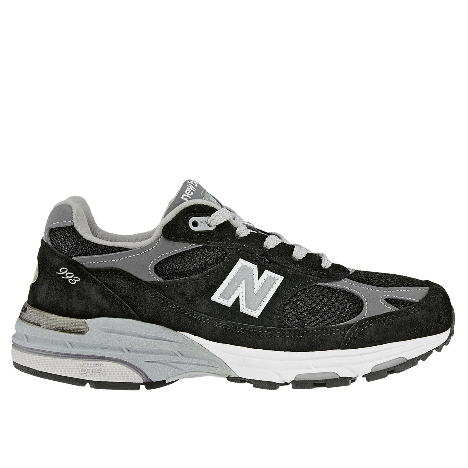 New Balance Womens Classics 993 Stability Running Shoes Black