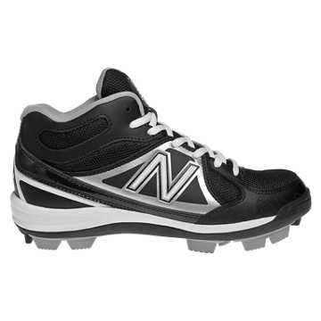 Youth Mid-Cut 3000 Rubber Molded Cleat, Black with Silver