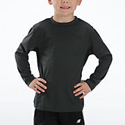Youth Athletic Long Sleeve Top, Charcoal