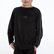 Youth Athletic Long Sleeve Top, Black
