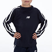 Youth Athletic Long Sleeve Top, Navy