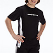 Youth Athletic Short Sleeve Top, Black