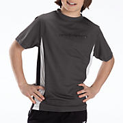 Youth Athletic Short Sleeve Top, Charcoal