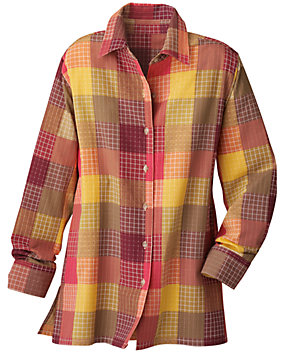 Plaid Yarn Dyed Big Shirt