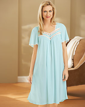Silk Essence Short Nightgown