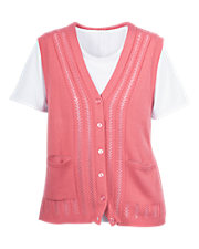Rose Classic Sweater Vest